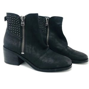 Lucky Brand Black Leather Kaylie Booties  7.5